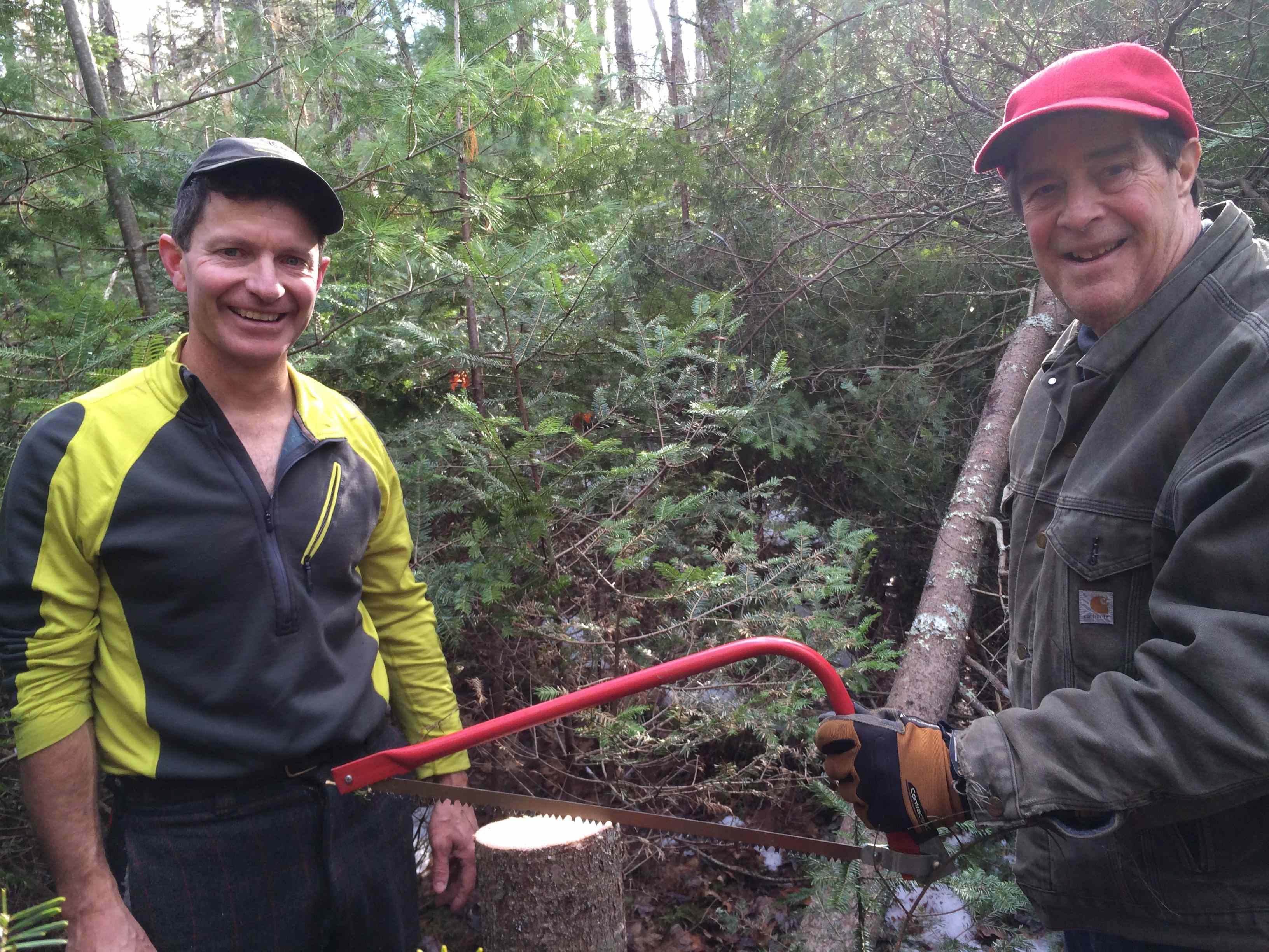 Proud lumbermen